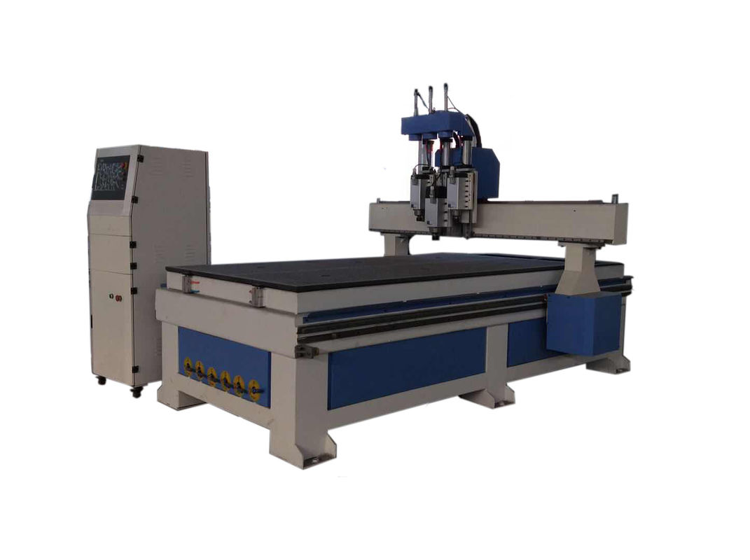 3 Head Woodworking CNC Machine For Wood / Plywood / MDF Board High Precision