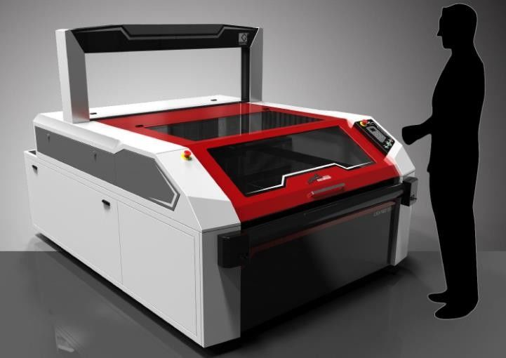 Soft Materials Auto Feeding Laser Cutting Machine With Linear Square Guide Rail